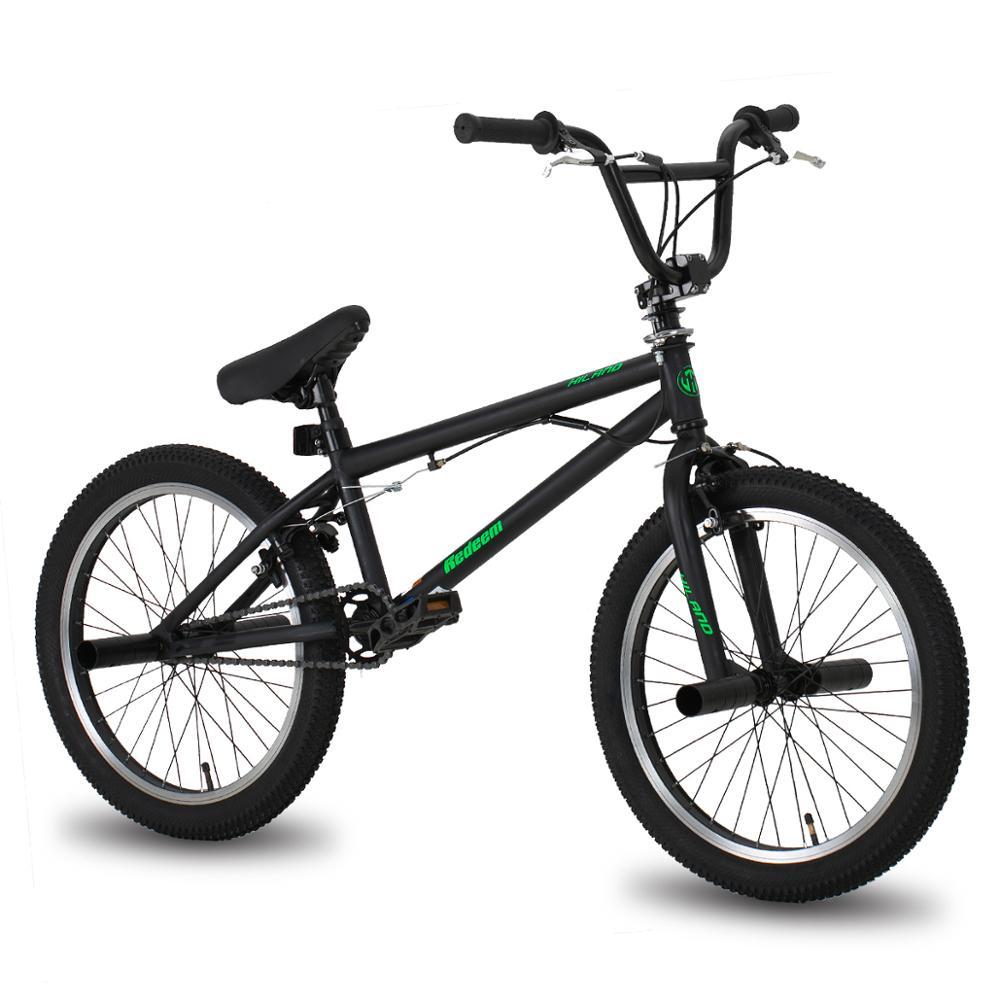 Трюковый велосипед HILAND, сталь, колеса 20 дюймов, для фристайла, двойной тормоз клещевого типа, сноубайк для акробатических трюков, 10 цветов и ...