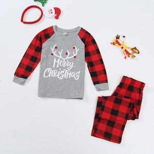 Image 2 - Conjunto de pijamas familiares de Navidad, ropa de Navidad, traje para padres e hijos, ropa de dormir de casa, trajes familiares a juego para bebé, Chico, papá, mamá