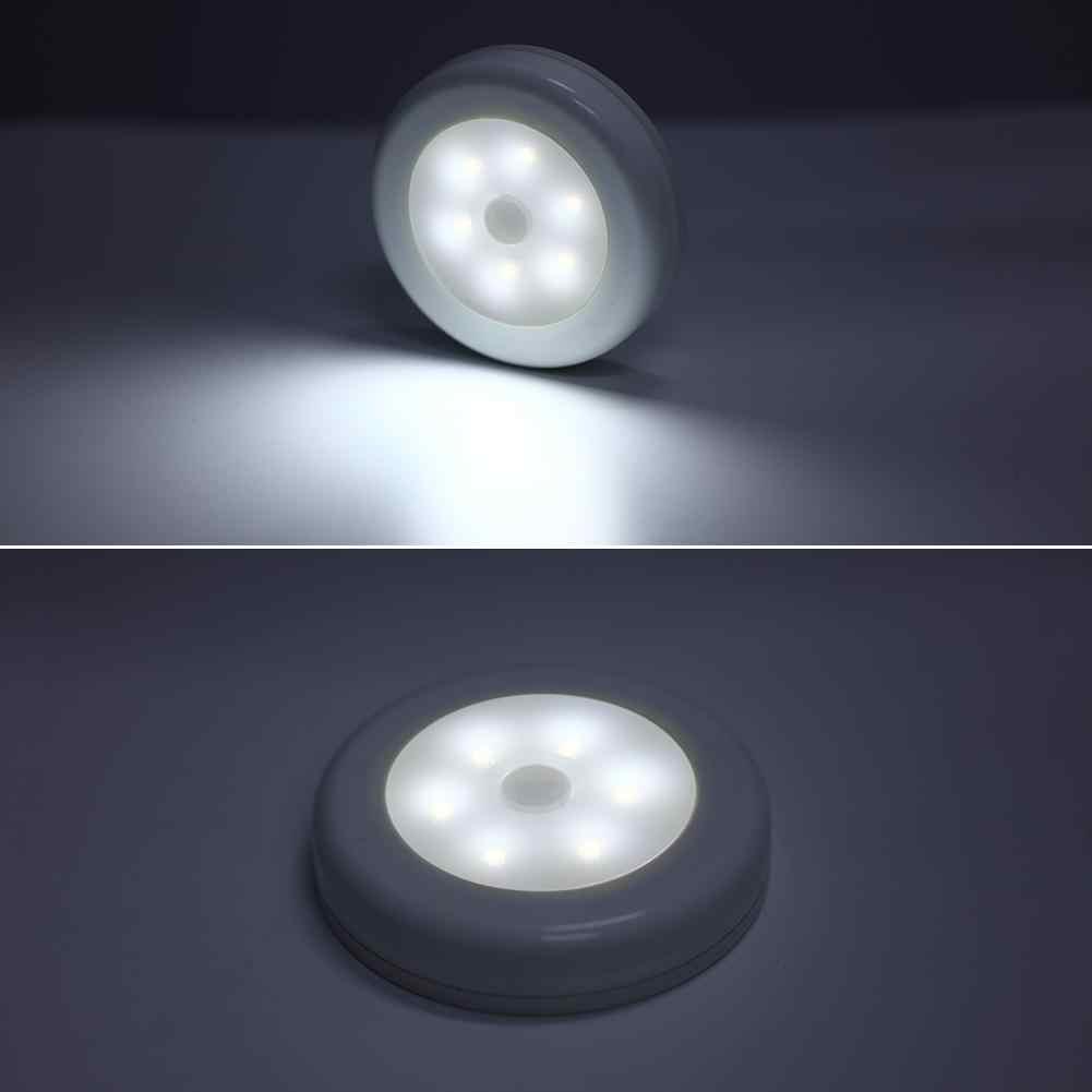 6 LED PIR 모션 센서 Led 밤 빛 비상 LED 빛 배터리 전원 캐비닛 램프 조명 홈 장식 드롭 배송