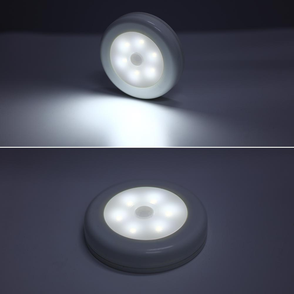 6 LED PIR Motion Sensor Led Night Light Emergency LED Light Detector Battery Powered 6 Led Cabinet Lamp Lights Home Decoration