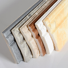 3D Waist Line Sticker Self-Adhesive Waterproof Border Wall Sticker Top Corner Line Wall Edge Strip Tiles Wallpaper Home Decor