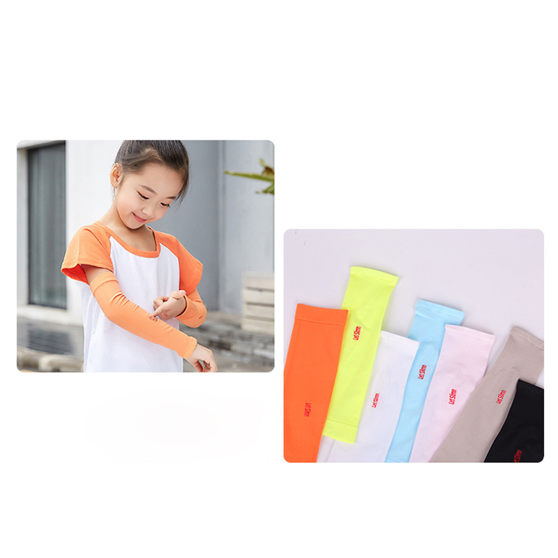 running - 1 Pair Kids Anti-UV Summer Cooling Arm Sleeves Girls Sun Protection Quick Dry Arm Covers For Running Riding Outdoor Sports