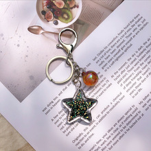 2019 Fancy&Fantasy Keychain Hot New Cartoon Sea World Starfish Pearl Shell Key chain  Crystal Pendant Women Wallet is Hanged