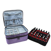 30/42/44/70 Grids Nail Polish Storage Bag Cosmetic Essential Oil Perfume Double-Layer Portable Lipstick Organizer Box Handbag