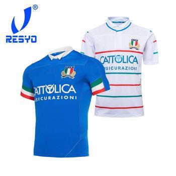 RESYO dla 2019 2020 włochy sześć narodów męska domu Away Rugby Jersey sportowa koszula S-3XL tanie i dobre opinie NoEnName_Null Krótki Poliester Koszulki Pasuje prawda na wymiar weź swój normalny rozmiar 2019 Italy