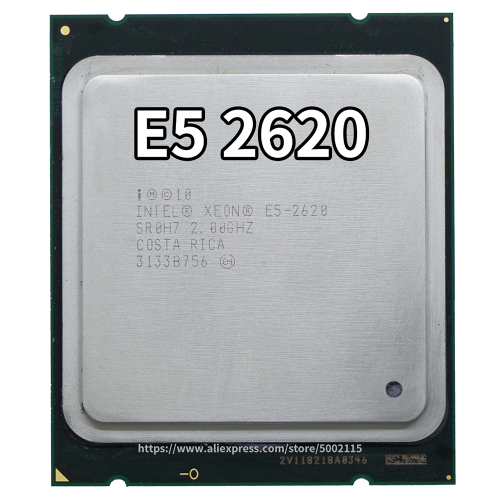 Intel Xeon CPU E5-2620 E5 2620 SR0KW 2.0GHz 6-Core 15M LGA2011 E5 2620 Processor Can Work