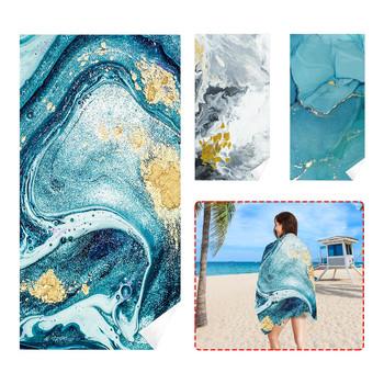Prostokątny ręcznik plażowy tropikalny nastrój miękki ręcznik szybkie suszenie ręcznik kąpielowy ręcznik do sauny koc plażowy dla dorosłych dzieci tanie i dobre opinie CN (pochodzenie) zestaw ręczników żakaradowy HANDMADE Rectangle Szybkoschnący można prać w pralce 5 s-10 s W stylu rysunkowym