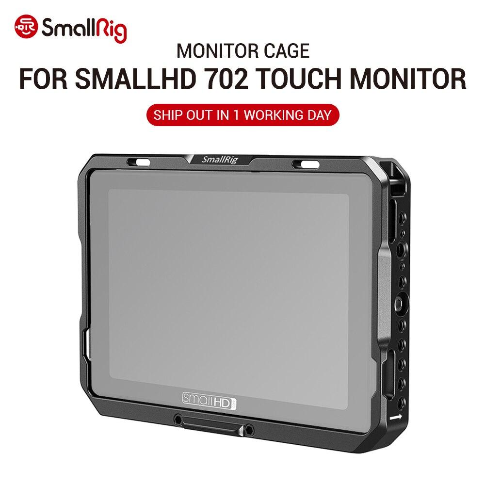 SmallRig Pre-order Monitor Cage W/ Sun Hood Fr SmallHD 702 Touch Monitor Feature 1/4 & ARRI 3/8 & NATO Rail Accessory Mount 2684