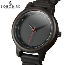 BOBO BIRD Wood Watch Hombres estilo deportivo ébano cuarzo movimiento reloj de pulsera Relogio Masculino U P10