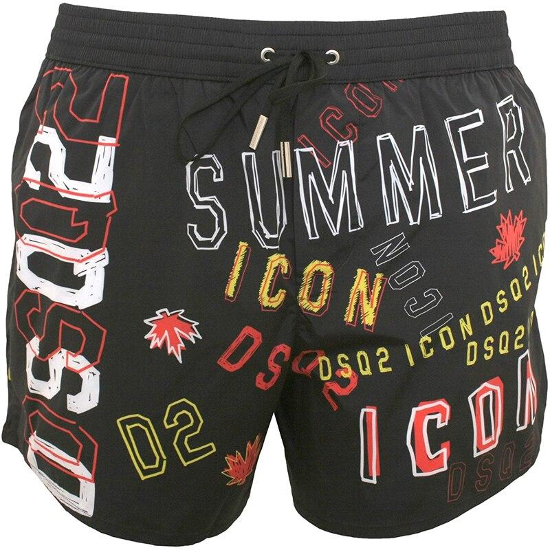 Лето 2021, европейские и американские брендовые пляжные брюки DSQ2, быстросохнущие шорты для фитнеса и отдыха