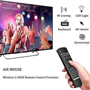 Image 2 - MX3 arkadan aydınlatmalı klavye uzaktan kumanda Air Fly fare 2.4G kablosuz Mini klavye 81 tuşları IR öğrenme Android TV kutusu