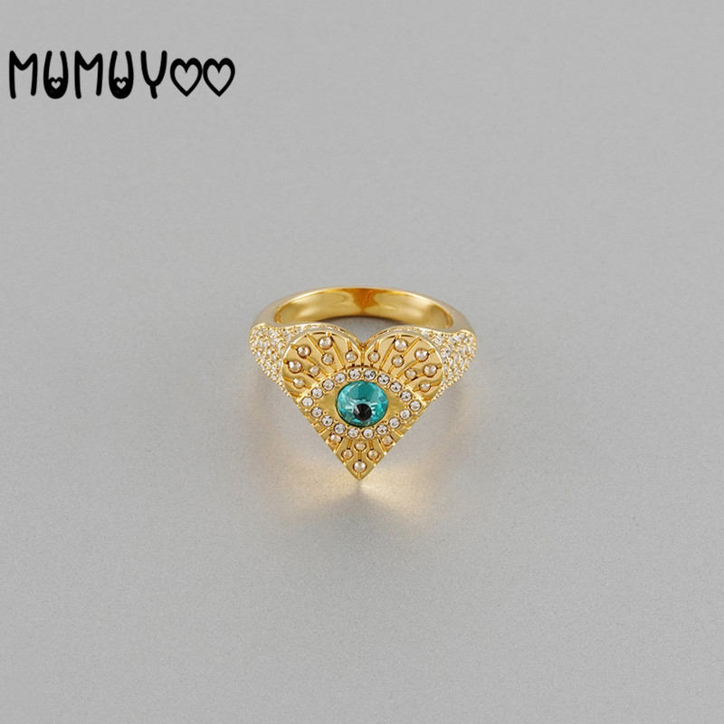 Fashion jewelry high quality swa, new mysterious element, demon eye golden love ring, exquisite gift for girlfriend