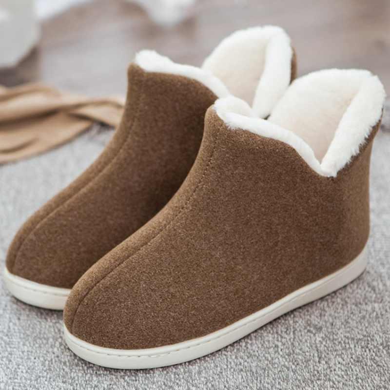 REAVE kedi çiftler sevimli kat ayakkabı unisex ev botları pamuk sıcak kadın kış çizmeler kadın bileğe kadar bot için kadın feminina botas