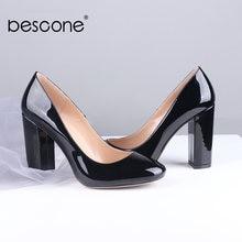 Bescone стильные дамские повседневные туфли лодочки без шнуровки
