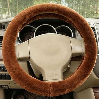 Universal Truck Car Soft Plush Steering Wheel Cover Guard Protector Winter Grip Steering Wheel Cover girls image