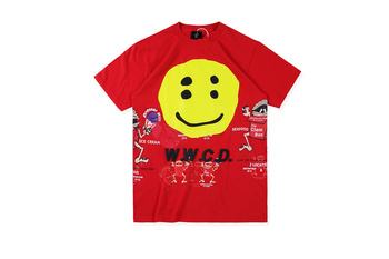 Kanye West WWCD CPFM Smile Face Printed Women Men T shirts tees Hiphop Streetwear Cotton Casual T shirt image