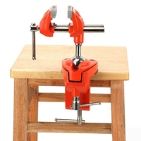 70mm Heavy Duty Mini 360 Degree Rotating Clamp Vise Adjustable 70mm Jaw Width Vise Table Clamp for Workbench Woodwork Full Steel