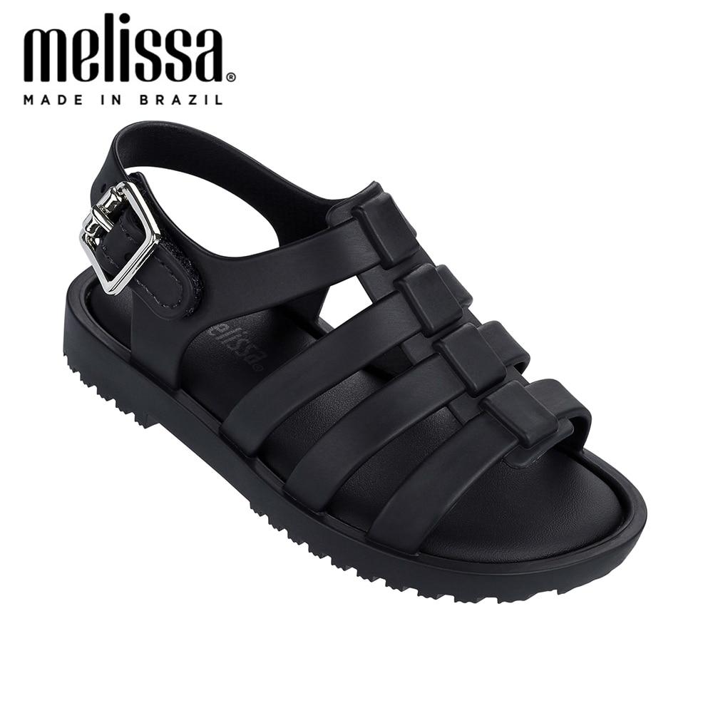Mini Melissa Flox Roman Boy Girl Jelly Shoes 2020 New Summer Beach Shoes Melissa Sandals Kids Sandals Girls Children Sandal