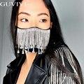 Sexy Glänzenden Strass Quaste Maske Dekoration Gesicht Zubehör Abdeckung Gesicht Schmuck für Frauen Hochzeit Nachtclub Dekoration