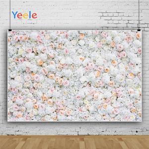 Image 3 - Yeele Wedding White Flower Wall Ceremony Photophone Photography Backdrops Personalized Photographic Backgrounds For Photo Studio