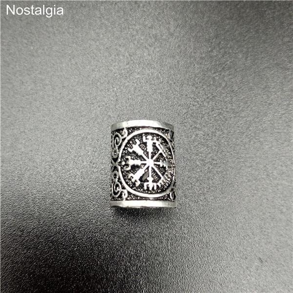 Viking-Hair-Rune-Beads-For-Jewelry-Making-Valknut-Vegvisir-Compass-Trinity-Metal-Spacer-Large-Hole-Bead.jpg_640x640 (6)