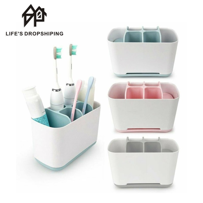 1pcs Toothbrush Holder Electric Teeth brush Toothpaste Holder Accessories Stand Makeup Case Shaving Brush Organizer Bathroom image