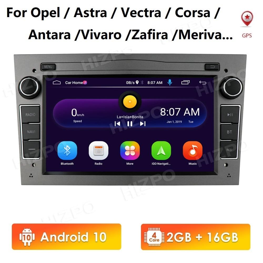 2G 16G Android 10 2 DIN GPS para coche para opel Astra H G J Vectra Antara Zafira Corsa Vivaro Meriva Veda reproductor de DVD