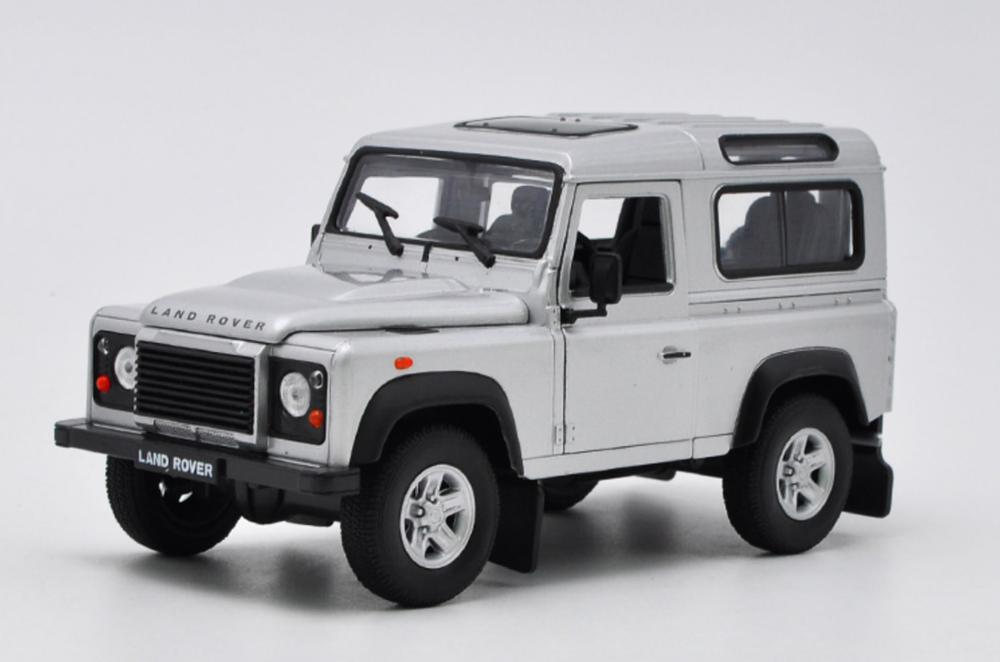 Welly 1/124 1:24 Land Rover Defender SUV Off Road Vehicle Car Diecast Display Model Birthday Toy For Kids Boys Girls