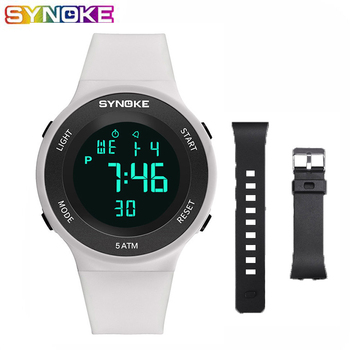 SYNOKE Watches For Men LED Digital Watch Man 50M Waterproof Fashion Outdoor Sport Wristwatches Clock With Strap Relojes Hombre weide watch men sport water resist black leather strap led display auto date quartz wristwatches masculino clock relojes hombre