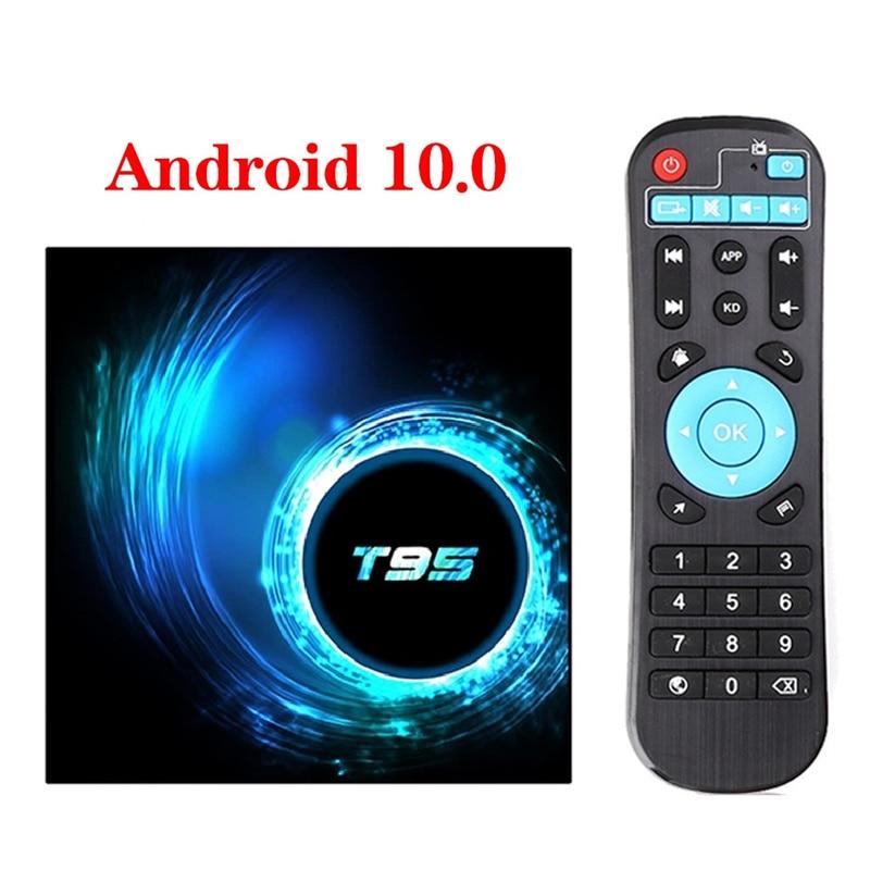 T95 Smart TV Box Android 10.0 4GB 32GB 64GB Allwinner H616 Quad Core 1080P H.265 4K Media player 2GB 16GB Set top box