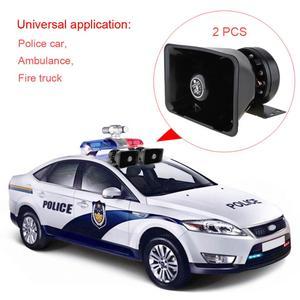 Image 4 - 2pcs משטרת סירנה צופר רמקול 400W 18 רם אזעקת מכונית אוטומטי צופר 12V עם מיקרופון מערכת אלחוטית שלט רחוק