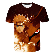 New Cartoon Naruto 3Dtshirt Summer Childrens/Youth Kakashi Anime T Shirt Boy Girl Baby Casual Uzumaki/Sasuke Kids shirt
