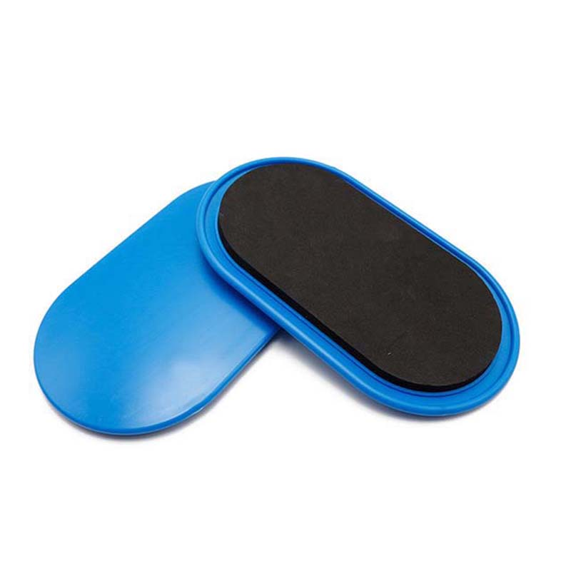 1 Pair Fitness Gliding Discs Core Slider With Covers Whole-Body Workout Coordination Training Home Gym Exercise Equipment Blue