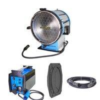 PRO 6000W Daylight Compact HMI Fresnel Light + 230V 4/6K Ballast + Flycase for Film Shooting Lighting