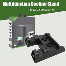 cooling vertical stand dual controller charger for xbox one s x console games card storage charging docking station for xbox one Dual Controller Charging Dock Station For Xbox ONE Multifunction Cooling Vertical Stand Games Storage Charger for Xbox ONE/S/X