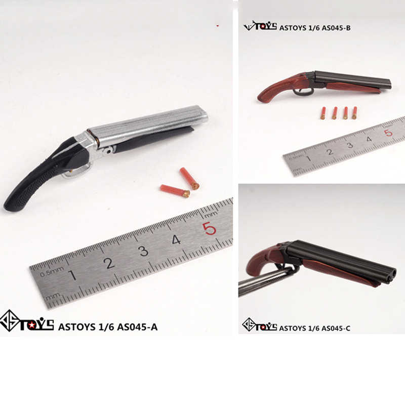 Dalam Saham Astoys AS045 1/6 Revolver Pistol Gun Spray Gun Menembak Pistol Plastik Model Mainan untuk 12 Inci Action Figure boneka Mainan Hadiah