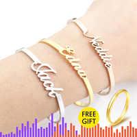 V Gewinnen Personalisierte Hand Link BFF Schmuck Kpop Custom Name Armbänder Armreifen Frauen Männer Bijoux Femme Gold Erkek Bileklik 2018