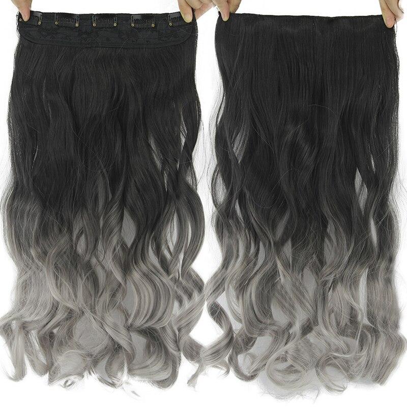 Extensão de cabelo sintético, gres mulheres 24