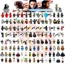 Один джедай из Звездных Войн Хан йода Дарт Вейдер Оби-Ван модели Лея Рей строительные блоки, совместимые с Legoelys с принтом «Звездные войны»