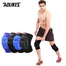 AOLIKES 1 пара утолщенные футбольные волейбольные Экстремальные виды спорта Лыжные наколенники фитнес наколенники велосипедные защитные наколенники