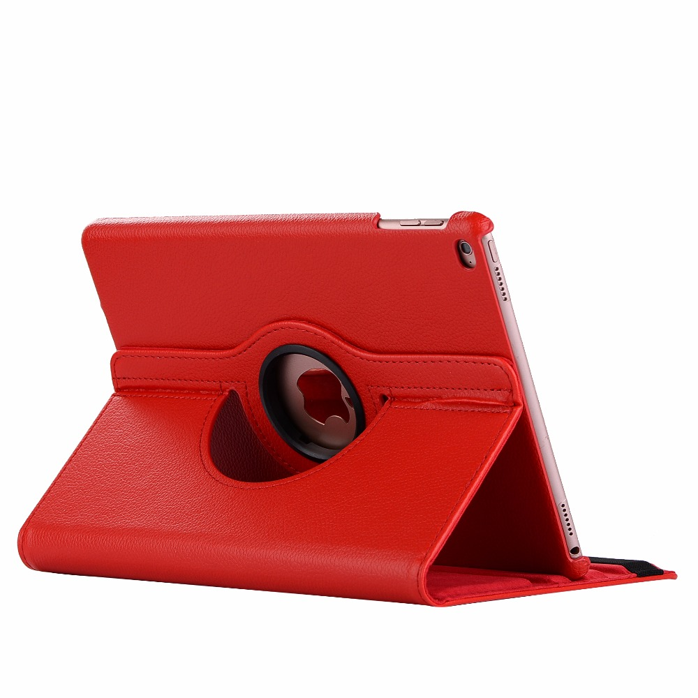 red Beige 360 Degree Rotating PU Leather Flip Cover Case For iPad 10 2 2020 2019 8th 7th