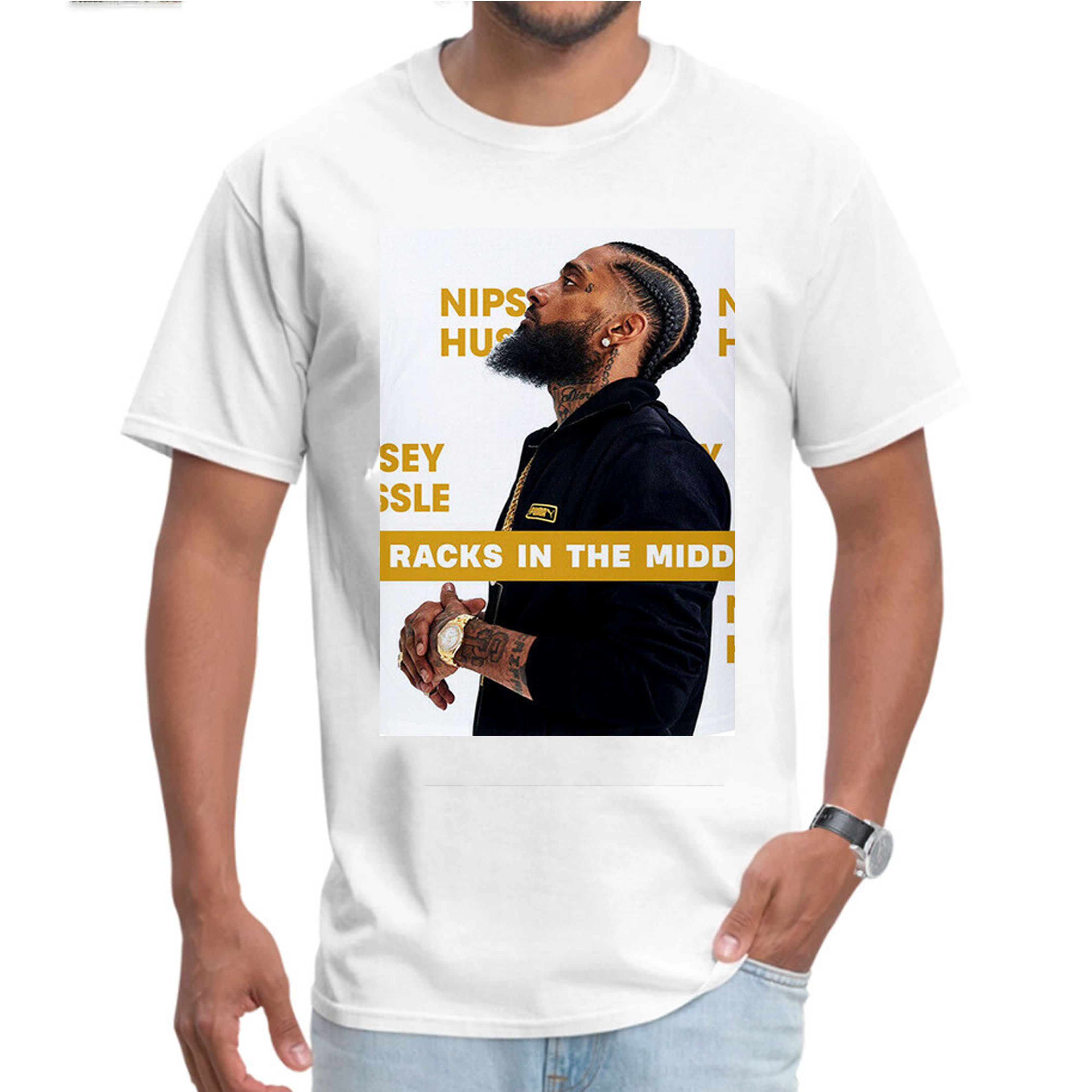 Nipsey Hussle Rapper T-Shirt songwriter American Adult Kids Tee Top Crenshaw 003