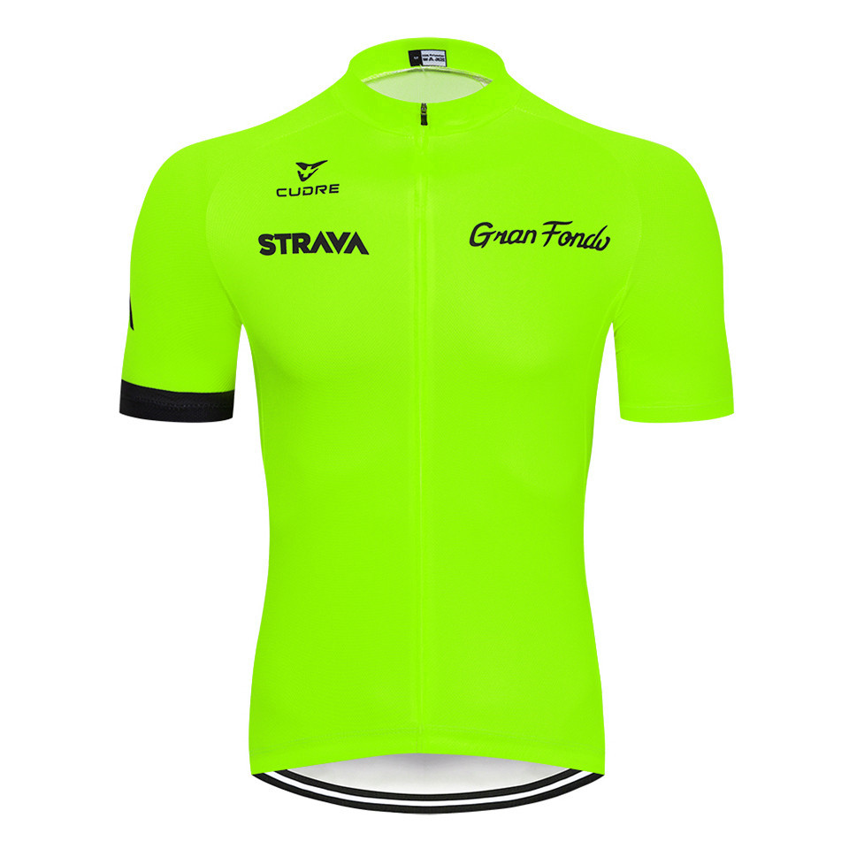 2020 STRAVA Pro Team verano ciclismo Jersey conjunto bicicleta ropa transpirable camisa de manga corta para hombres pantalones cortos para bicicleta 19D Gel pad