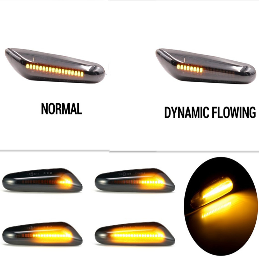1Pair Car Turn Signal Lights Dynamic Flowing LED Indicator Blinker Lamp For BMW E90 E91 E92 E93 E46 E60 E82 E83 E87 E88 X1 X3 X5 image