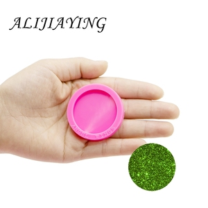 1.5 inch circle molds silicone mold for resin epoxy craft DIY round silicone keychains fits on a 1.5 inch badge reel DY0260(China)