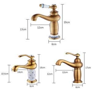 Image 2 - MOLI Bathroom Sink Faucet Gold Basin Single handle Faucets Diamond Water Mixer Crane Hot Cold Chrome Bath Brass Mixer Tap ML201