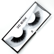 1 Pair/Box 3D Mink Eyelashes Upper Lashes 100% Real Mink Strip Eyelash Handmade Crossing Mink Eye Lashes Extension Makeup Tools mink keer 7 41