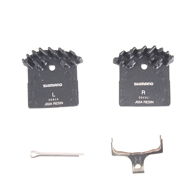 <font><b>SHIMANO</b></font> J02A RESIN <font><b>Brake</b></font> Pads with cooling fins fit with DEORE M615/SLX M675/M7000/<font><b>XT</b></font> M785/<font><b>M8000</b></font> image