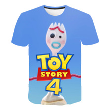 2019 Forky new Toy Story 4 3D Printed Children T-shirt The Walking Toys 3d t shirt Sherif Woody Cartoon Buzz Lightyear Kids Tee
