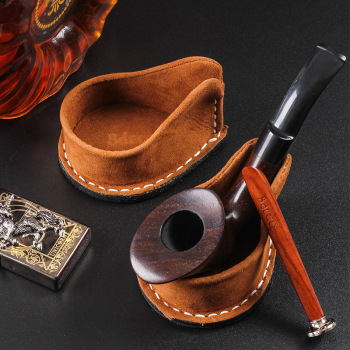 Cowhide Pipe Holder Portable Pipes Rack Holders Tobacco Smoking Pipe Stand/Holder Tool Accessories